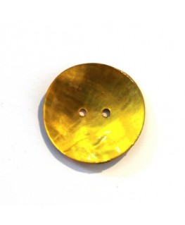 Bouton nacre 25mm jaune x 6