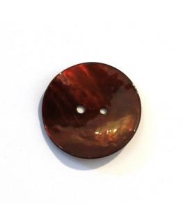 Bouton nacre 25mm chocolat x 6