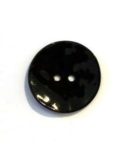 Bouton nacre 25mm noir x6