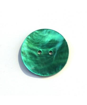 Bouton nacre 25mm jade x6