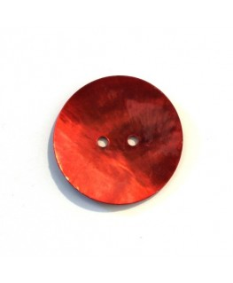 Bouton nacre 25mm rouge x6