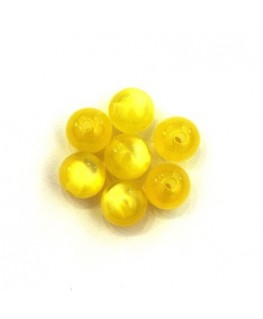 Perle polaris brillante 8mm jaune x25