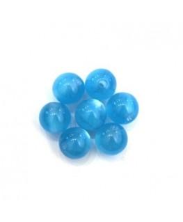 Perle polaris brillante 8mm turquoise x25