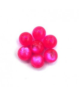 Perle polaris brillante 8mm rose x25