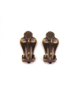Attaches clips pour boucles d'oreilles bronze