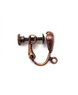 Attaches boucles d'oreilles clip cuivre
