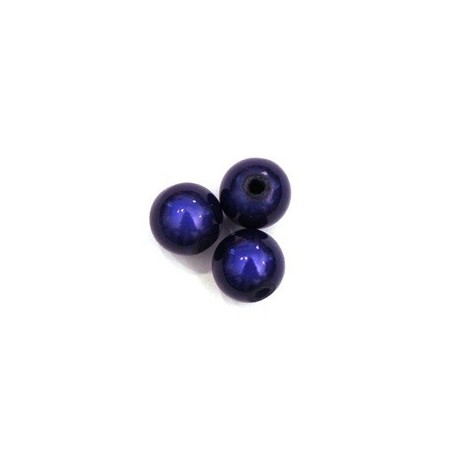 Perles magiques 10mm bleu foncé x10