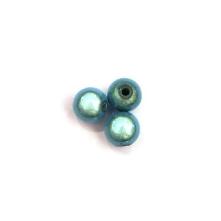 Perles magiques 10mm turquoise x10