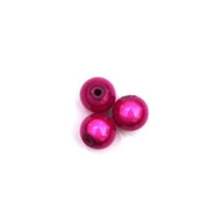 Perles magiques 10mm fuchsia x10