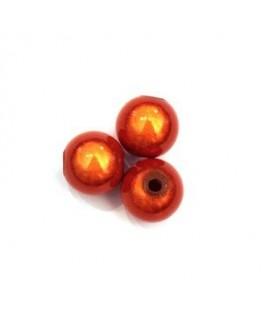 Perles magiques 10mm orange x10
