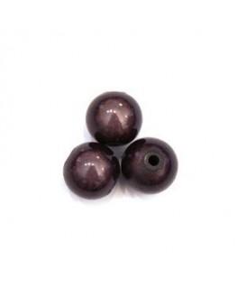 Perles magiques 10mm gris noir x10