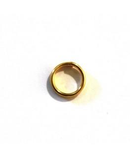 Anneau double 6mm doré x10