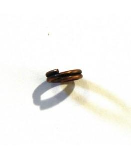 Anneau double 6mm cuivre x10