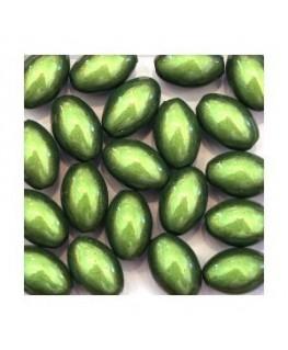 Perles magiques ovales vert x20