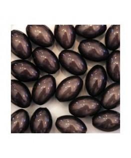 Perles magiques ovales gris noir x20