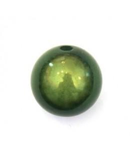 Perle magique 20mm vert foncé x1