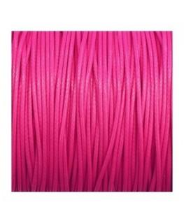 cordon polyester ciré rose foncé