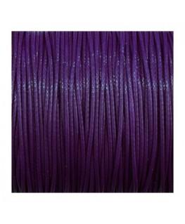 cordon polyester ciré 1mm violet