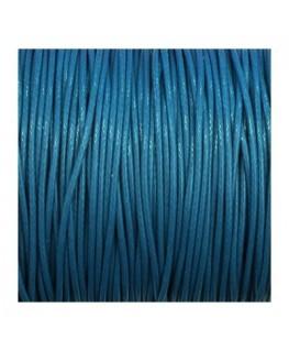 cordon polyester ciré 1mm bleu