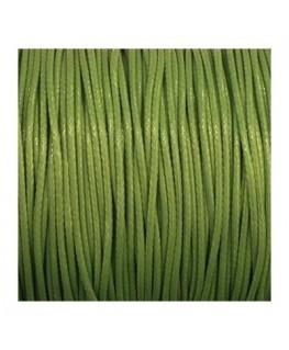 cordon polyester ciré 1mm vert