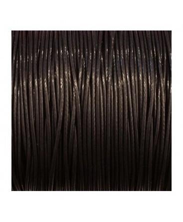 cordon polyester ciré 1mm noir
