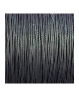cordon polyester ciré 1mm gris
