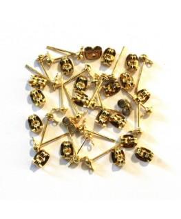 Boucle d'oreille dorée x50