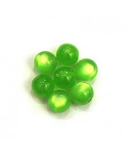 Perle polaris brillante 8mm vert x25