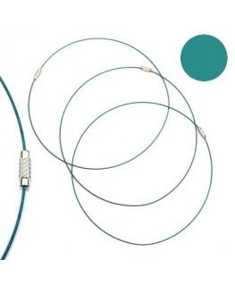 Tour de cou fil cable émeraude