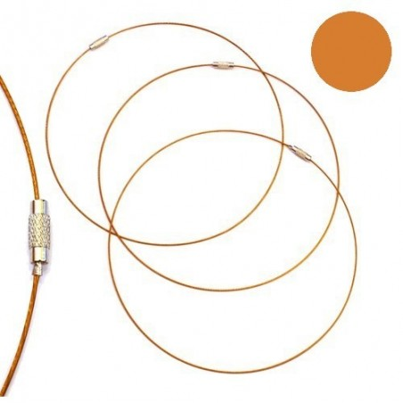 Tour de cou fil cable or jaune