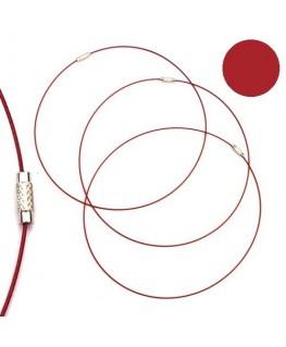 Tour de cou fil cable rouge