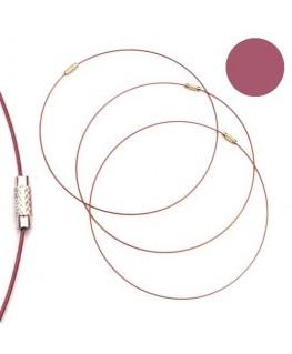 Tour de cou fil cable fuchsia