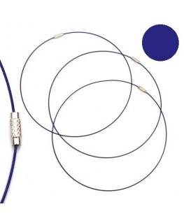 Tour de cou fil cable bleu foncé