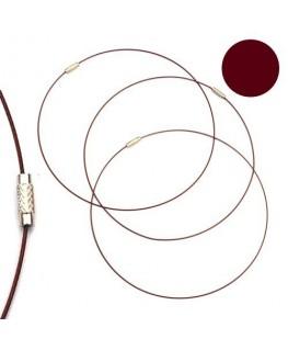 Tour de cou fil cable marron