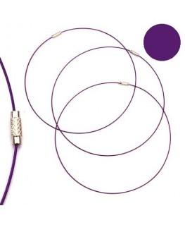 Tour de cou fil cable violet