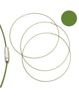 Tour de cou fil cable vert
