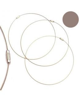 Tour de cou fil cable gris