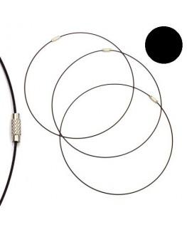 Tour de cou fil cable noir