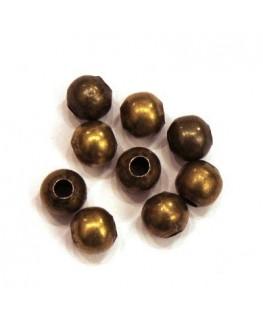 Perles creuses 6mm bronze