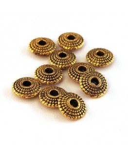 Perles intercalaires soucoupes dorés