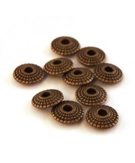 Perles intercalaires soucoupe bronze