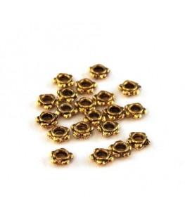 Perles mini intercalaires fleur doré