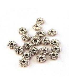 Perles intercalaires petites fleurs vieil argent