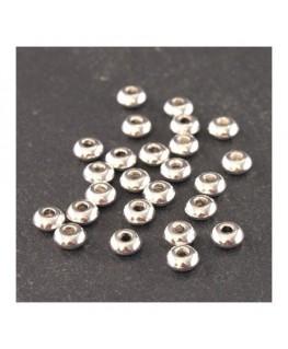 Perles intercalaires simples argentées