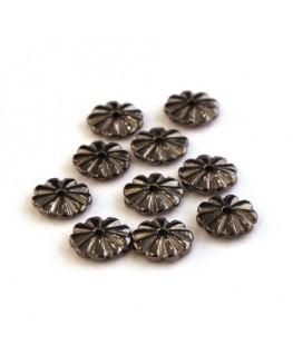 Perles rondelles gunmetal