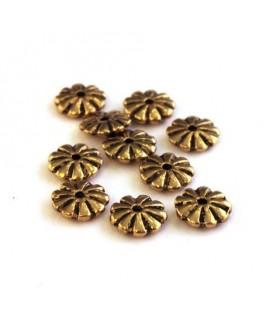 Perles intercalaires marguerite doré