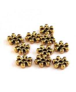 Perle intercalaire fleur doré