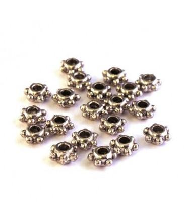 Perle rondelle à picots en métal