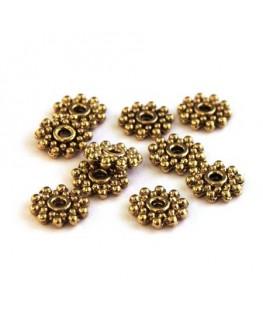 Perle rondelle roue métal doré
