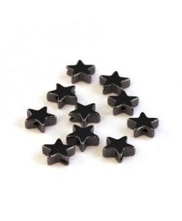 Perles étoile hématite 6mm